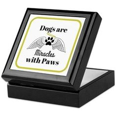 Dogs are Miracles with Paws Keepsake Box> Dogs are Miracles with Paws> YourDesignerDog Store Sell Items, Keepsake Boxes, Stone Art, Go Shopping, Pet Products, Pets, Store, Group, Board