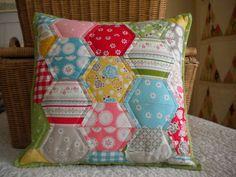 Half-Hexie Pillow Tutorial | A Quilting Life - a quilt blog