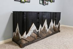 rustic dresser, rustic furniture, reclaimed wood, bedroom furniture, unique dresser, natural wood, pallet furniture, landscape, denali