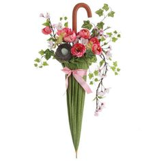 Silk Flowers Umbrella Arrangement Artificial Floral Home Decor 048893443894 | eBay