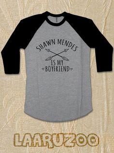 Shawn Mendes Shirt Raglan Tshirt 3/4 sleeves Shawn by LAARUZOO