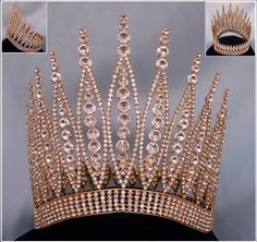 large beauty pageant crowns | LARGE Queen - Queen of The 7 Seas RHINESTONE BEAUTY PAGEANT RHINESTONE ...