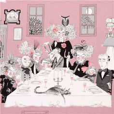 mauve witch family fabric Alexander Henry A Ghastlie Night