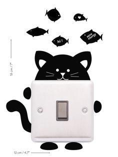 Items similar to Light Switch Wall Decal Preety kitty, Switcher sticker, Charming Animals Preety kitty,Black Switcher Stickers, kids room decor on Etsy Kids Room Wall Decals, Room Stickers, Cat Stickers, Wall Sticker, Cat Light, Graffiti Wall Art, Wall Art Wallpaper, Wall Drawing, Cat Cards