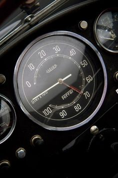 Classic Jaeger tachymeter on a Ferrari dashboard