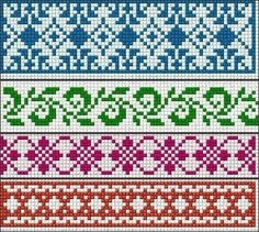 Ideas knitting charts fair isle cross stitch Ideas knitting charts fair isle cross stitch Always wanted to figure out how to knit, however unclear wher. Cross Stitch Borders, Cross Stitch Charts, Cross Stitch Embroidery, Cross Stitch Patterns, Bead Loom Patterns, Cross Stitching, Fair Isle Knitting Patterns, Knitting Charts, Knitting Stitches