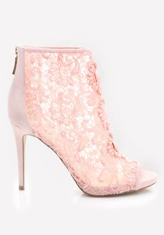 Amee Beaded Crochet Booties - Pale Blush Pink - Must. Have. Incredibly chic…