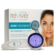 Experience clinical-grade acne treatment in your own home. The reVive® Clinical penetrates deep into the skin, destroying bacteria that leads to acne. Cystic Pimple, Blue Light Therapy, Pimples Under The Skin, Led Therapy, Types Of Acne, Acne Causes, Acne Treatment, Skin Care