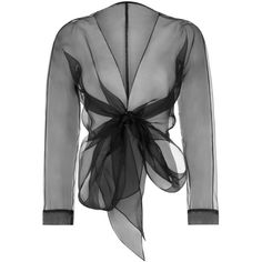 Bianca Elgar - Anne Scarf Tie Top Black (21.265 RUB) ❤ liked on Polyvore featuring tops, draped tops, bow top, special occasion tops, tie top and holiday tops