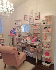 By: Leave tour comment. Cute Bedroom Ideas, Cute Room Decor, Girl Bedroom Designs, Room Ideas Bedroom, Bedroom Decor, Makeup Room Decor, Woman Cave, Glam Room, Dream Rooms