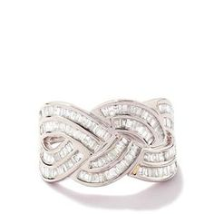 <strong>15</strong> - 1ct Certified Diamond 9K White Gold Tomas Rae Ring