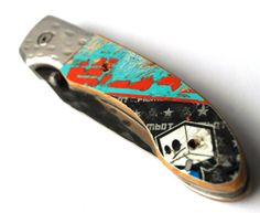 Pocket Knife with recycled skateboard handle on Etsy, Sold