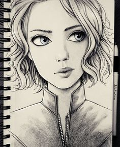 Black Widow (traditional) by natalico on DeviantArt
