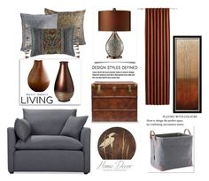 Brown and Gray by terry-tlc on Polyvore featuring interior, interiors, interior design, home, home decor, interior decorating, Volo Design, Universal Lighting and Decor, Maison de Vacances and CB2