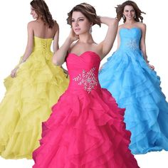 Wedding Quinceanera Dresses Formal Prom Cocktail Evening Party Pageant Ball Gown