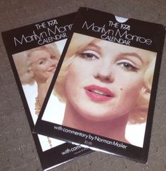 Marilyn Monroe 1974 Calendar. With a commentary by Norman Mailer. Spiral-bound in slipcover. USA.