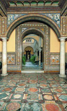 Interior of Palacio Condesa de Lebrija, Seville, Spain.