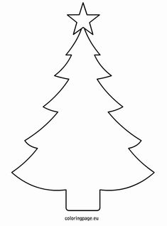 Outdoor Christmas Tree Coloring Page Fresh Printable Decorations Coloring Pages Tree Templates Free Christmas Tree Printable, Christmas Tree Template, Christmas Tree Clipart, Christmas Stencils, Christmas Tree Pattern, Christmas Crafts For Kids, Christmas Activities, Xmas Crafts, Felt Christmas