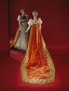 Court train Date: ca. 1809 Culture: French Medium: silk, metal thread