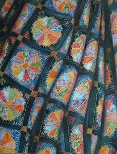 Helen Klebesadel art - If I ever learned to sew, I would make beautiful quilts such as this!