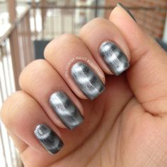 Day 8 of the 31 Day Challenge - Metallic Nails - Sally Hansen Magnetic Nail Colour Silver Elements Magnetic Nail Polish, 31 Day Challenge, Metallic Nails, Sally Hansen, Nail Colors, Magnets, Rings For Men, Nail Art, Turquoise