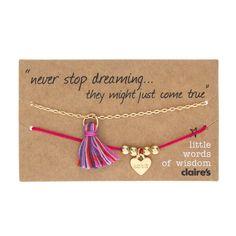 Little Words of Wisdom Pink Bracelets