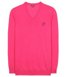 Mcq By Alexander Mcqueen Wool Sweater In Icoeic Piek Mcq Alexander Mcqueen, Pink Design, Wool Sweaters, Skinny Jeans, Mens Tops, How To Wear, Clothes, Shopping, Style