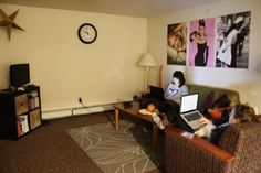 Like this, just different pictures on the wall, maybe? And a different rug...