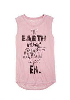 Earth Without Art Burnwash Muscle Tank - Graphic Tees - Clothing - dELiA*s