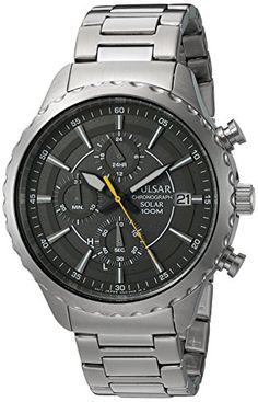 Pulsar Mens Quartz Stainless Steel Dress Watch ColorSilverToned Model PZ6011 *** Find out more about the great product at the image link. (Note:Amazon affiliate link)