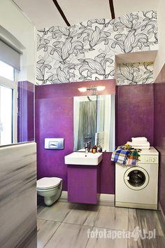 Bathroom interior with #wallpaper (by Fototapeta4u.pl)