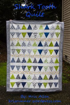 Shark Tooth Title Quilt - by Kris Allen featuring fabric from Vanessa Christenson