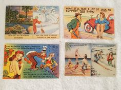 4 Vintage Postcards Florida Funny Humorous 3 unused risque   | eBay