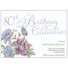 Southgate 80th Birthday Invitations