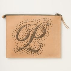 #custom #Cute Themed #gifts #hearttravelpouch #esoticadesigns -  Monogram P Leather Travel Pouch