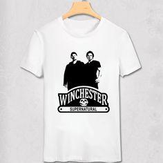 Supernatural American Fierce Ghost T Shirts Men Printed Short Sleeve O Neck Cotton Supernatural T-shirts Fashion Custom Tshirts