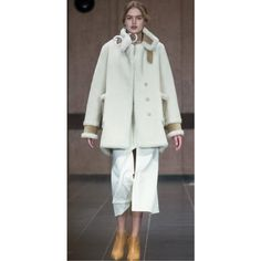 Flow The Label White Faux Shearling Coat ($1,395) ❤ liked on Polyvore featuring outerwear, coats, faux shearling coat, white coat and sherpa coat