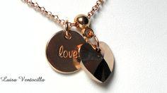 Vergoldete+Halskette+mit+Rosegold+Herz+Swarovski+von+Luisa+Ventocilla+Shop+auf+DaWanda.com