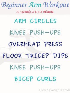 Beginner Arm Workout ~ Losing Weight For All