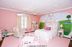 Pink princess bedroom #kidfriendly