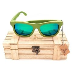 BOBO BIRD Green Bamboo Sunglasses