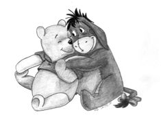 Winnie the Pooh and Eeyore by KerstinSchroeder.deviantart.com on @deviantART
