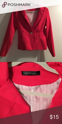 Hot Pink Blazer Never worn. Size small. Zanzea Collection Jackets & Coats Blazers