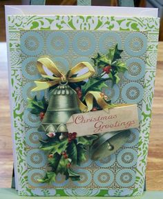 Handmade CHRISTMAS Card Anna Griffin Design and by claynfaye, $3.00