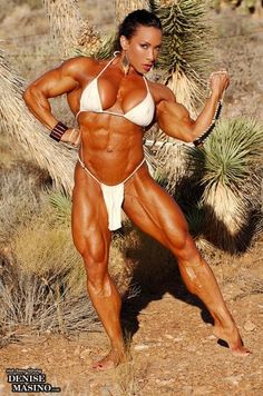 muscle-woman-denise-masino: Denise loves shooting in the desert