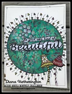 Diana Hetherington for Mixed Media Monthly Challenge Blog - challenge #41 with Rubber Dance Stamps