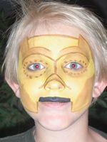 C3P0 Star Wars Face Paint