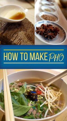 Authentic Bowl Of Pho Chicken Soup Recipes, Beef Recipes, Cooking Recipes, Chicken Pho, Cooking Tools, Recipies, How To Make Pho, Food To Make, Pho Beef