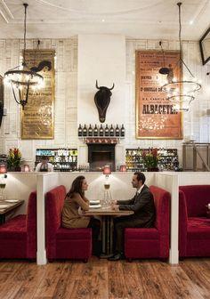 Restaurant Iberica (Canary Wharf) design by Contemporain Contemporain