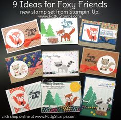Foxy Friends stamp set and Fox Builder Punch video (Patty's Stamping Spot)